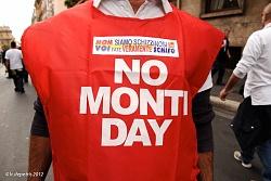 No Monti day roma 27/10/2012