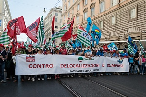 manifestazione nazionale lavoratori call center 4/6/2014