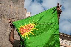 manifestazione  curdi a montecitorio 2/10/2014