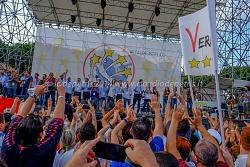 conclusione meeting movimento 5 stelle al circo massimo 12/10/2014