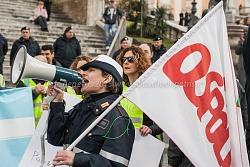 manifestazione nazionale polizia locale sindacati ospol e csa, 12/2/2014
