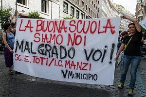 Scuola sciopero contro la riforma del Governo Renzi 5/5/2015