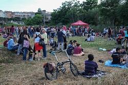 2 giugno 2015 antimilitarista, laghetto Parco delle Energie