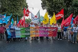 Manifestazione sindacati della scuola e precari contro il ddl del governo, 5/6/2015