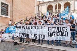 manifestazione contro mafia capitale, piazza del campidoglio 9/6/2015