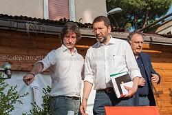 Marino alla festa di Sinistra Ecologia e Libertà alla Garbatella 23/6/2015