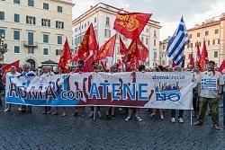 Roma 3/7/2015, manifestazione in sostegno del governo Tsipras