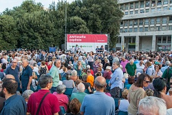 """""""Per la legalità contro le mafie"""", piazza San Giovanni Bosco Roma, 3/8/2105"""