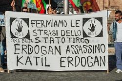 Manifestazione kurdi contro Erdogan Piazza della Republica 12/10/2015