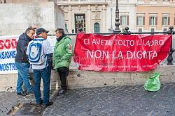 Sit in lavoratori esodati a Montecitorio, 3/12/2015