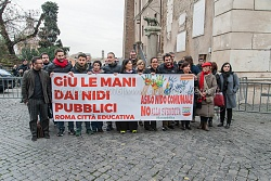 Flash mob di Sinistra Ecologia e Libertà in Campidoglio, 7/1/2016