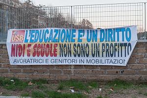 Manifestazione contro privatizzazione asili nido, 19/1/2016