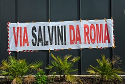 Manifestazione contro Salvini in piazza Malatesta a Roma 3/3/2016