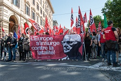 Manifestazione del movimento di estrema destra Casa Pound Roma 21/5/2016