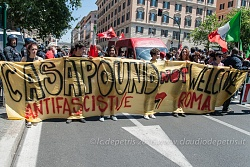 Presidio ANPI e movimenti antifascisti contro Casa Pound, Roma 21/5/2016