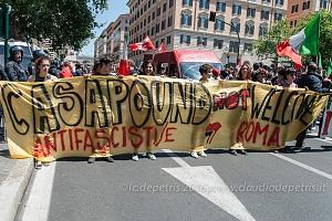 Presidio ANPI e movimenti antifascisti contro Casa Pound, Roma 21/5/2016