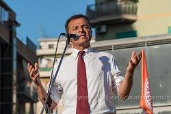 Comizio finale di Stefano Fassina in piazza delle Gardenie a Roma, 3/6/2016