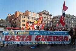 Roma: presidio contro la guerra,12/4/2017