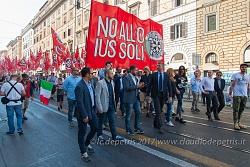 Roma, 24/6/2017: Casa Pound manifesta contro lo Ius Soli