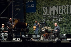 Peter Erskine in concerto alla Casa del Jazz in Roma, 1/8/2017