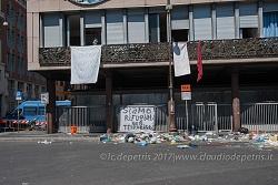 Roma presidio dei rifugiati sfrattati il 19/8/2017