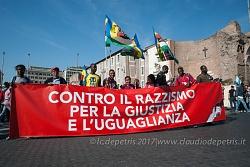 Roma 21/10/2017, manifestazione contro il razzismo