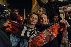 Roma 10/4/2018: Supporters romanisti a Piazza del Popolo