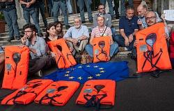 Roma 11/6/2018, dimostrazione contro il blocco dei porti italiani