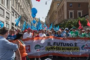 Roma 8/5/2019 manifestazione CGIL-CISL-UIL Funzione Pubblica