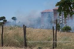 Incendio a Torre Spaccata 28/6/2019