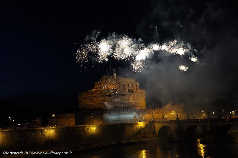 Rievocazione storica della girandola di castel sant'angelo 2013