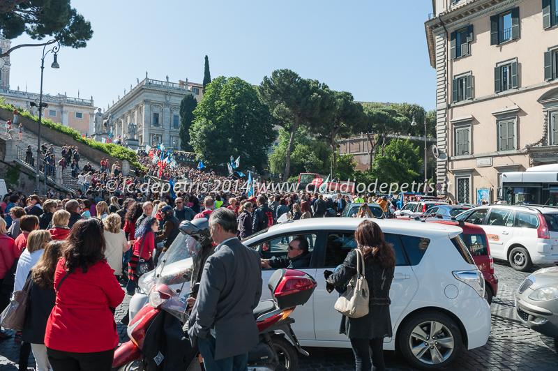 manifestazione dipendenti del comune di roma 6/5/2014