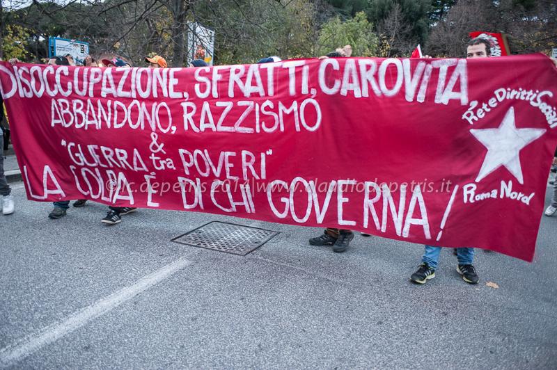Manifestazione rete diritti sociali roma nord 13/12/2014