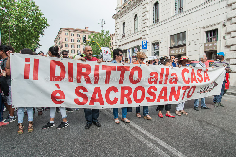 Manifestazione contro gli sfratti, Piazza dell'Esquilino 14/5/2015