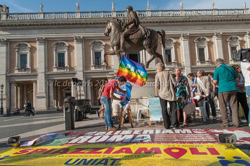 deLiberiamo Roma piazza del Campidoglio 11/6/2015