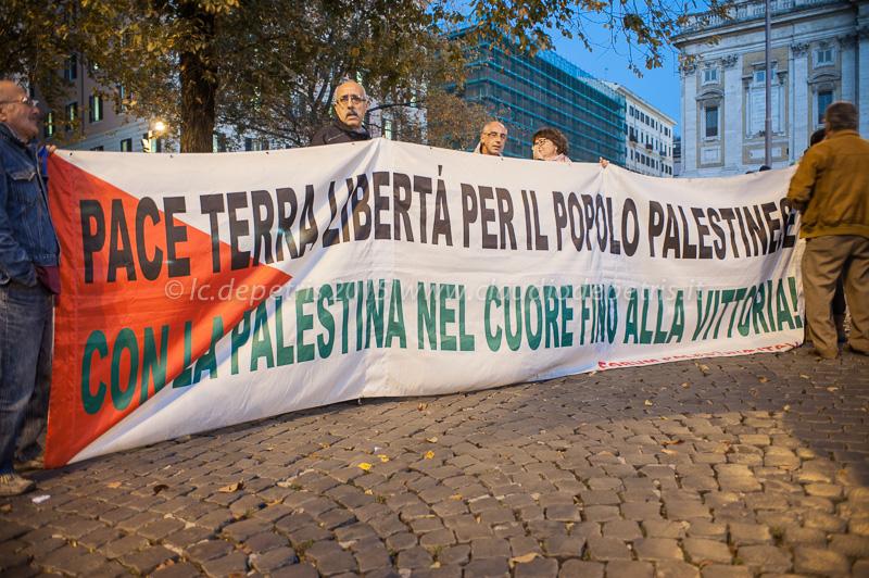 Presidio di solidarietà con la Palestina 22/10/2015