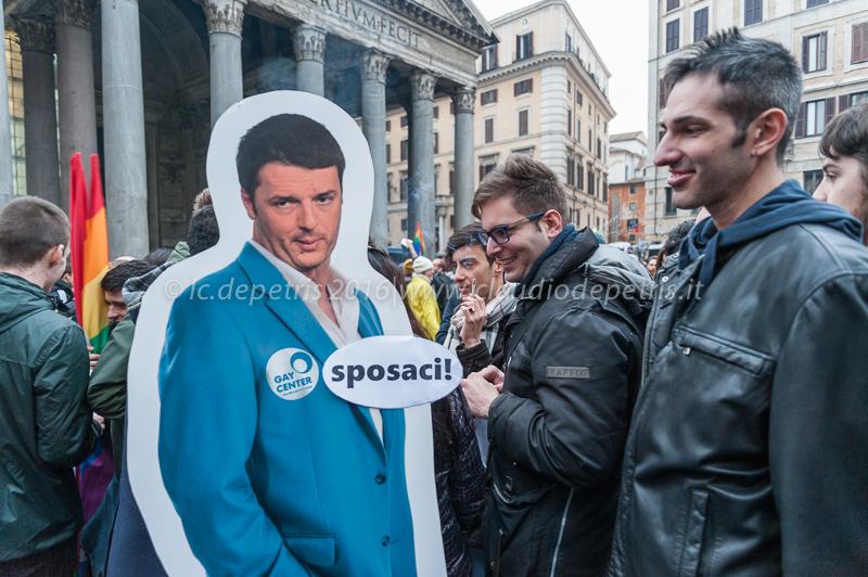 Svegliaitalia, manifestazione al Pantheon 23/1/2016