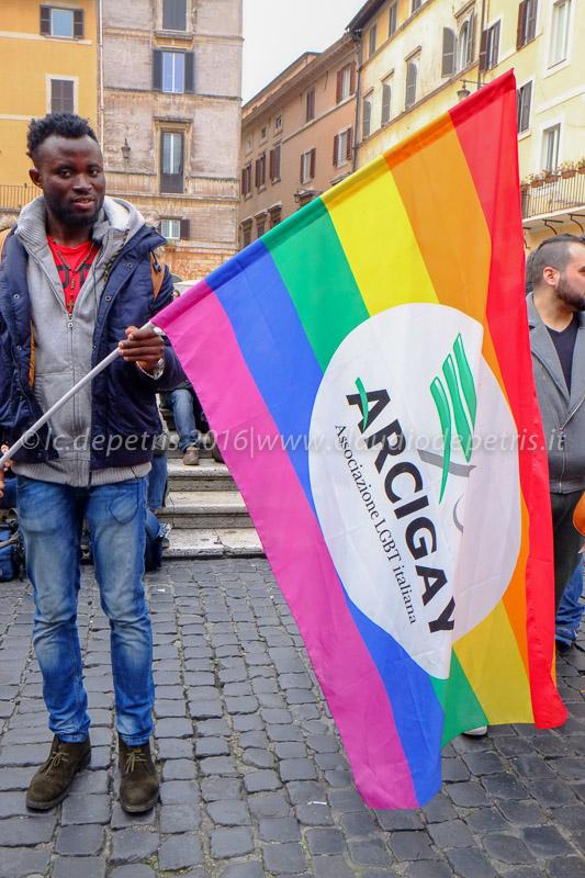 Presidio per i diritti civili in piazza della Rotonda, 14/2/2016
