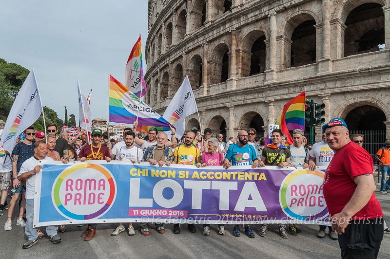 Gay Pride parade 2016, Roma 11/6/2016