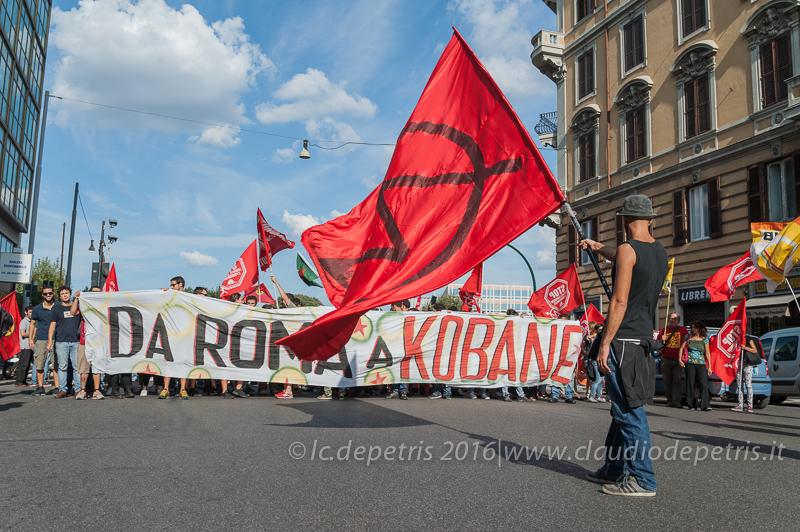 Manifestazione in appoggio al popolo kurdo, 24/9/2016