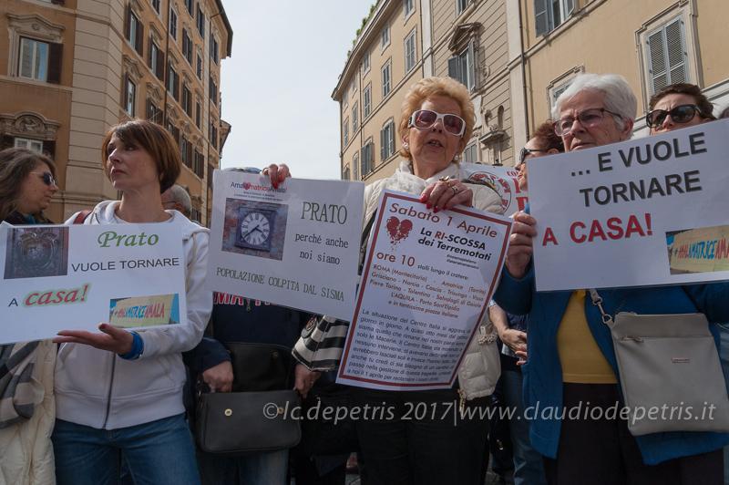 Roma: protesta dei terremotati del 2016, 1/4/2017
