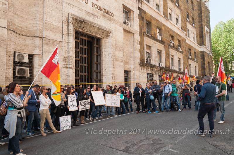 Roma: presidio lavoratori Alitalia, 12/4/2017