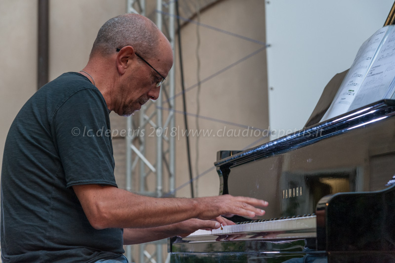 Pierpaolo Principato durante in sound check