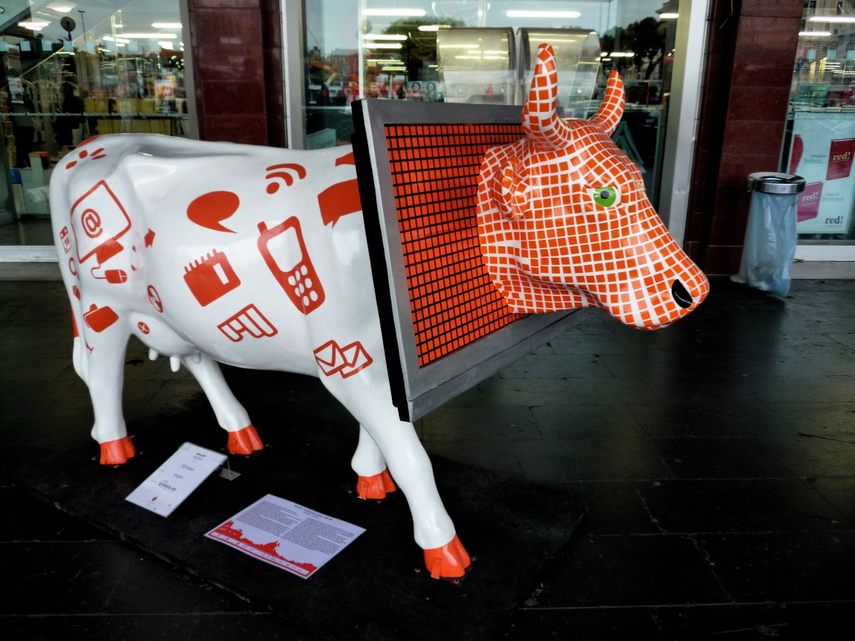 cow parade roma 2010