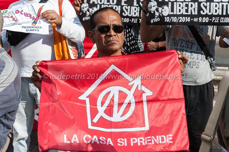 manifestazione movimenti per la casa piazza del campidoglio 16/9/2014