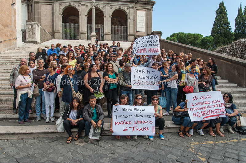 manifestazione lavoratori call center 060606 in campidoglio 7/10/2014