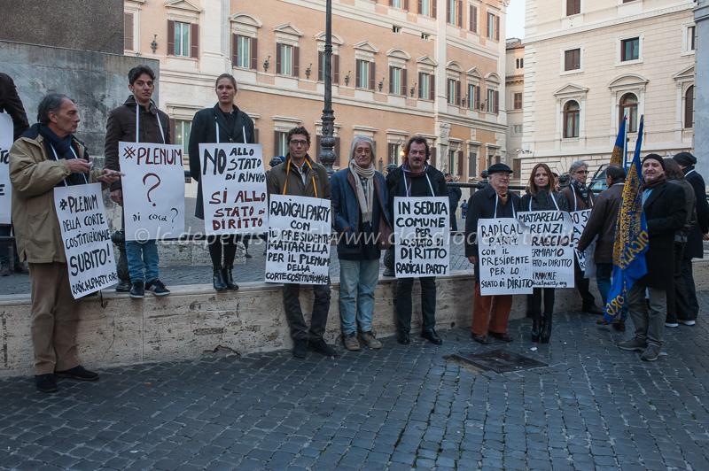 ll Partito Radicale in Piazza del Parlamento 14/12/2015