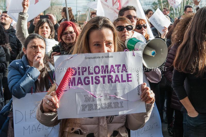 Protesta degli Insegnanti precari a Roma, 12/1/2016