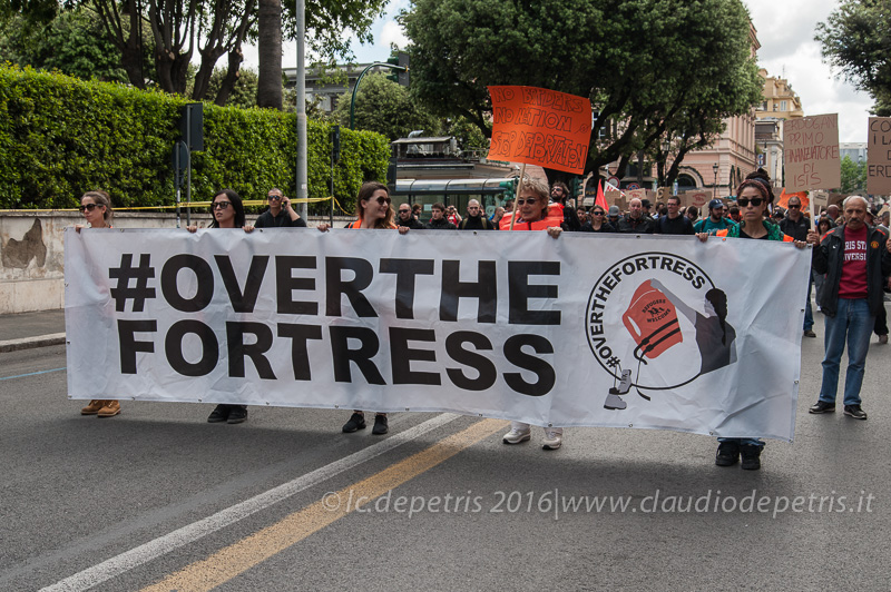Manifestazione contro Erdogan a Roma, 1/5/2016