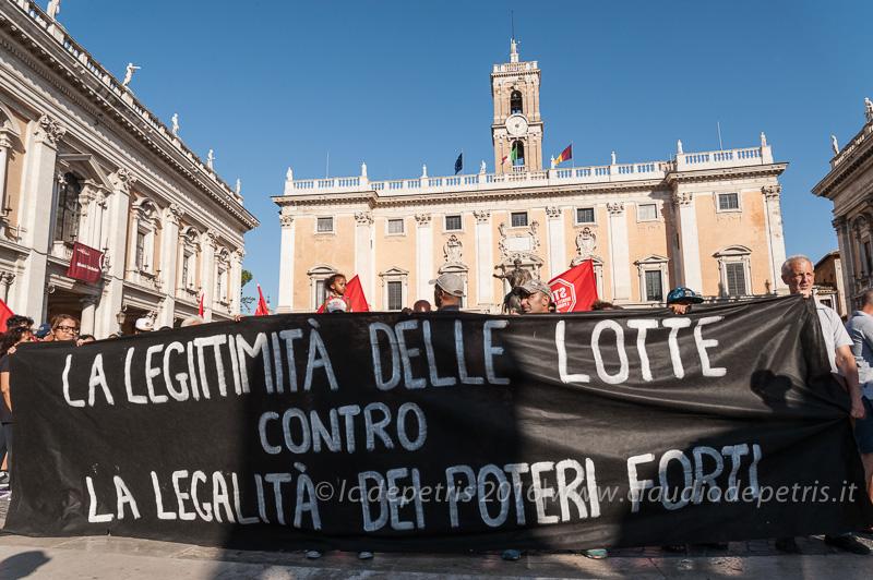 Presidio del movimento per il diritto all'abitare, 1/8/2016